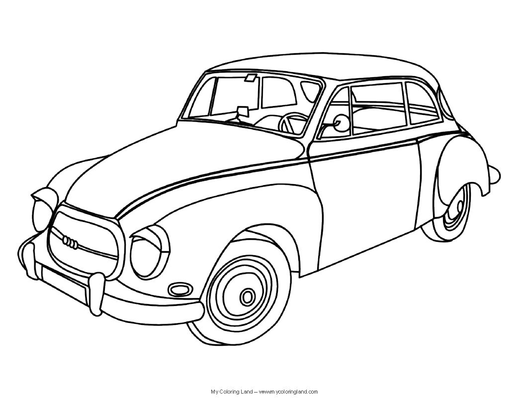 Colouring pages vintage cars - Old Car Coloring Pages Jpg Old Car Coloring Pages Jpg 1123 X 131 Kb