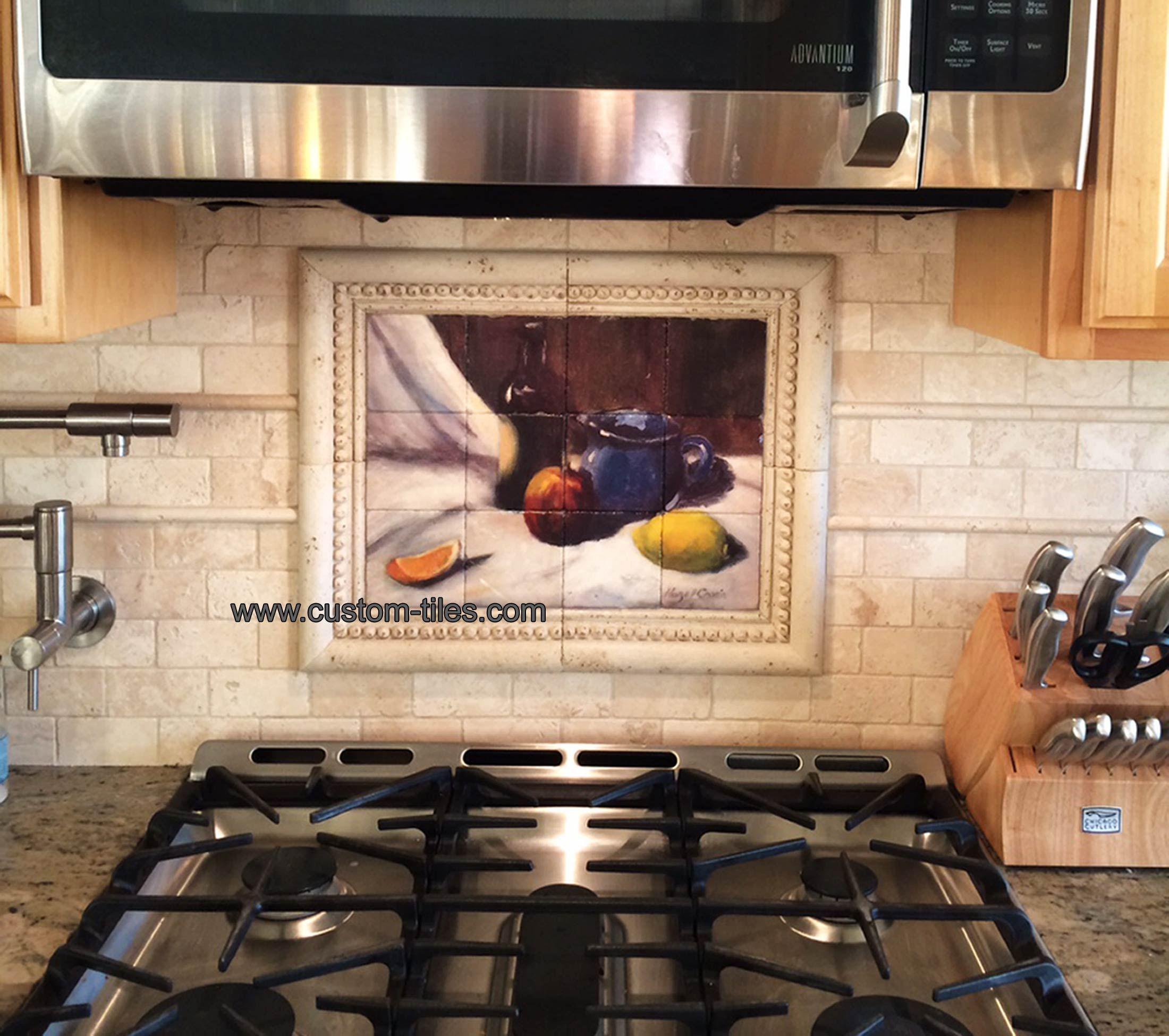 Kitchen Backsplash Tile Murals Contemporary Kitchen Tile Miami