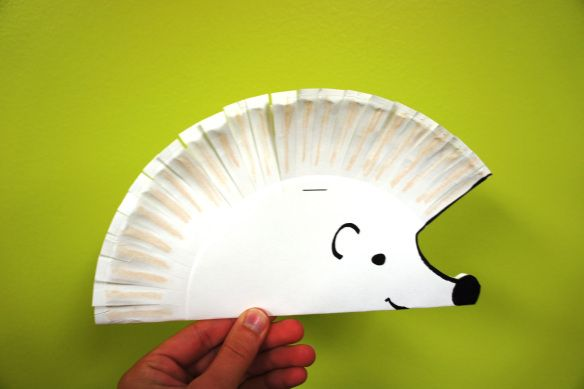 Paper Plate Hedgehog Craft & Paper Plate Hedgehog Craft | Play group crafts | Pinterest ...