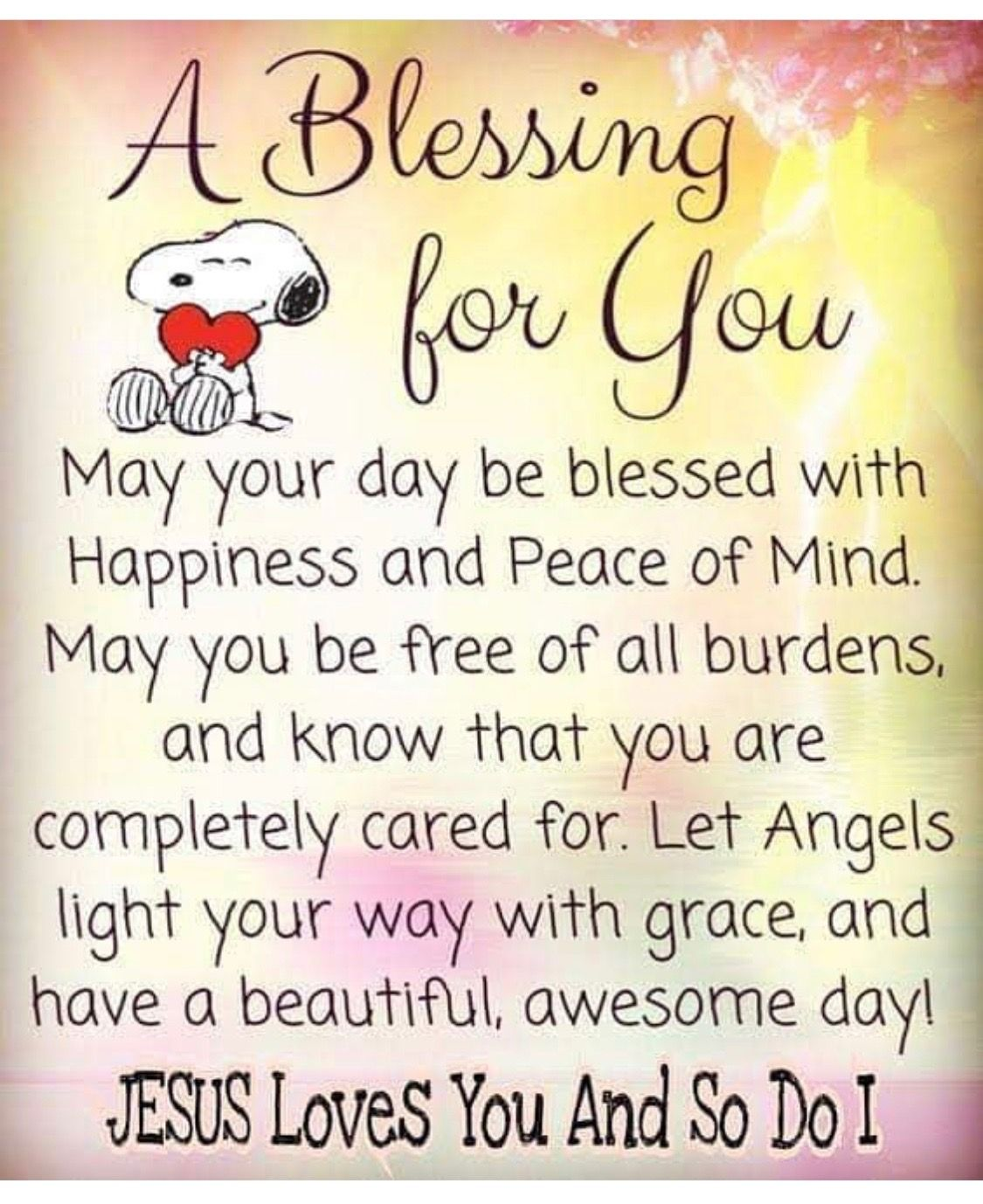 May God Bless You Always Morning Greetings Quotes Good Morning Inspirational Quotes Snoopy Quotes