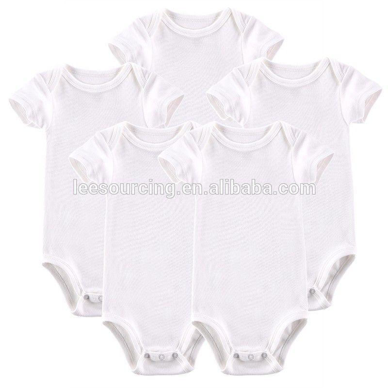f7e9eb23dc0d Wholesale customized logo baby plain rompers blanks baby onesie custom  printing