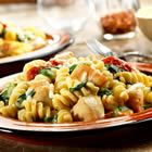 Chicken Fusilli with Spinach and Asiago Cheese Recipe