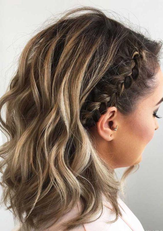 27 Cute Braided Hairstyles For Short Hair Http Eroticwadewisdom Tumblr Com Post 157382861187 Ha Short Hair Styles Easy Hair Lengths Medium Length Hair Styles