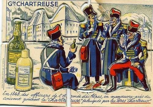 En 1848, l'armée des Alpes : amateurs et propagateurs de la liqueur de la #chartreuse !