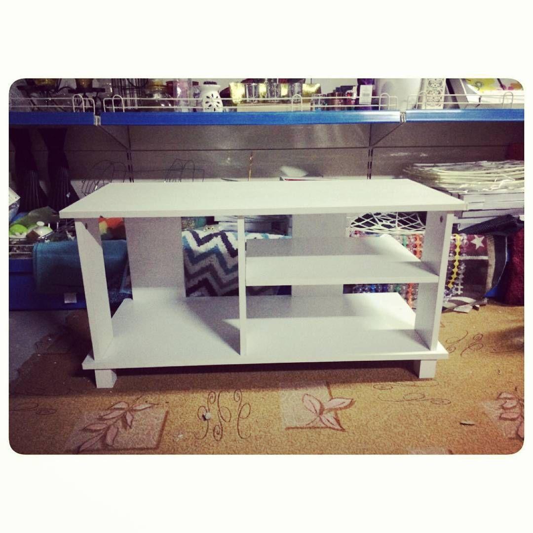 For Sale White T V Table New Price 10 Bd للبيع طاولة تلفزيون مودرن ستايل جديد السعر 10 Bd Tel 33770050 Home Furniture Decor