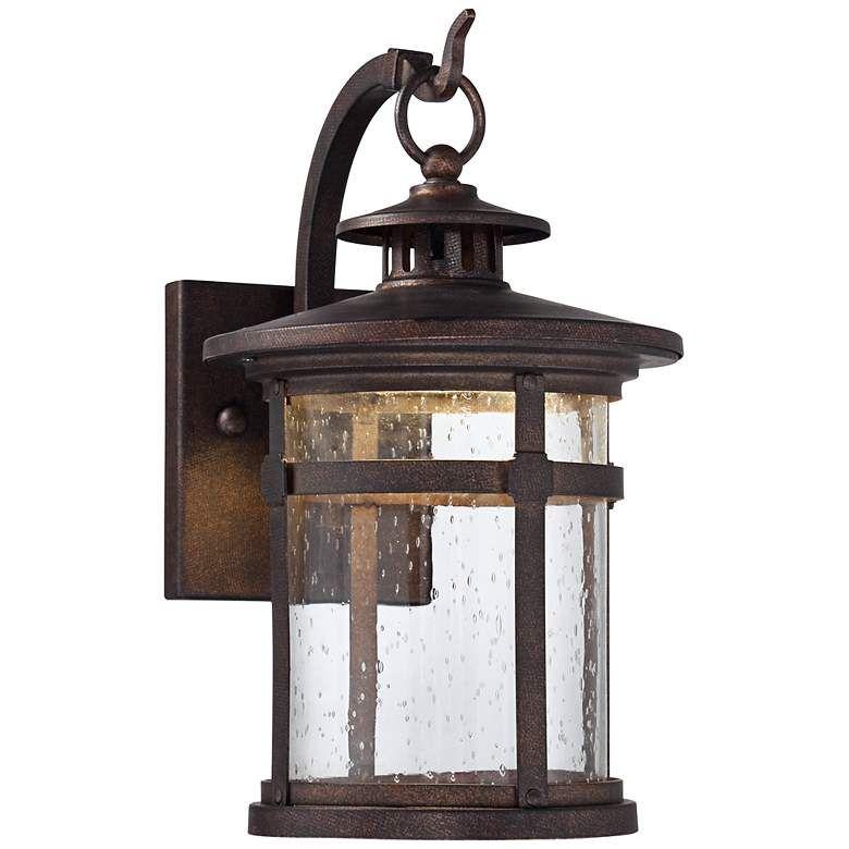 Callaway 14 1 2 High Bronze Led Outdoor Wall Light 5x192 Lamps Plus Led Outdoor Wall Lights Exterior Light Fixtures Outdoor Wall Lighting