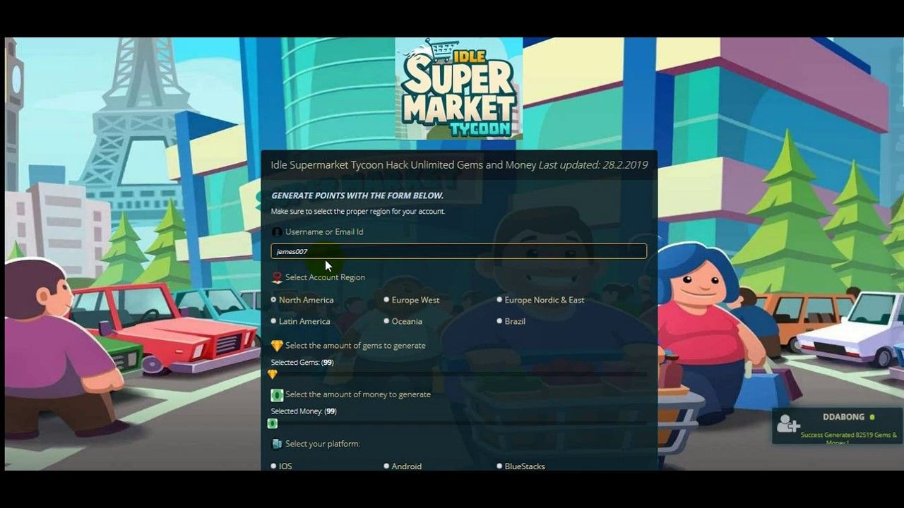 Idle Supermarket Tycoon Hack Unlimited Gems And Money