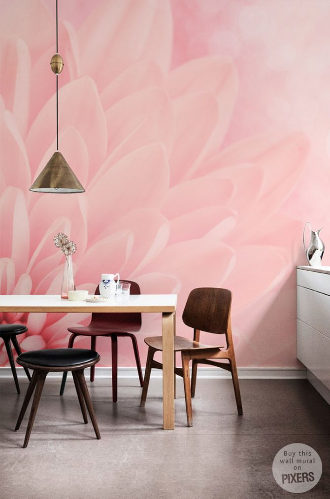 Pink chrysanthemum • Retro - Living room • Pixers® • We live to ...