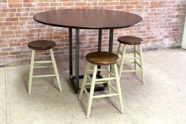 Tavolo Boston ~ Industrial rotondo tavolo di lavoro tavolini da bar industriale
