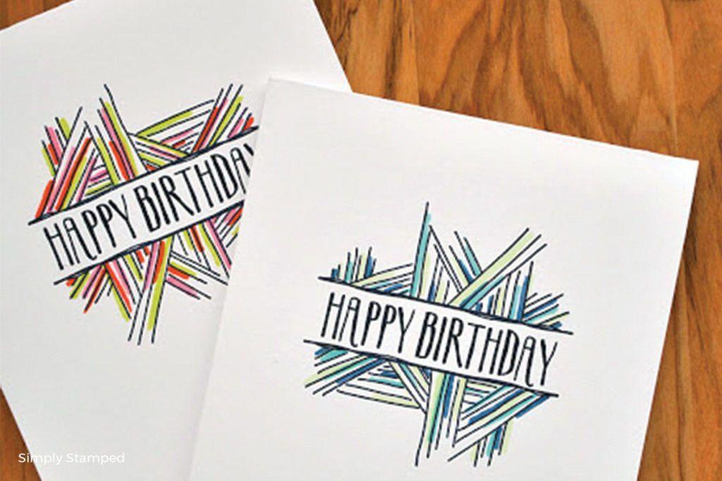 30 easy homemade birthday card ideas blog