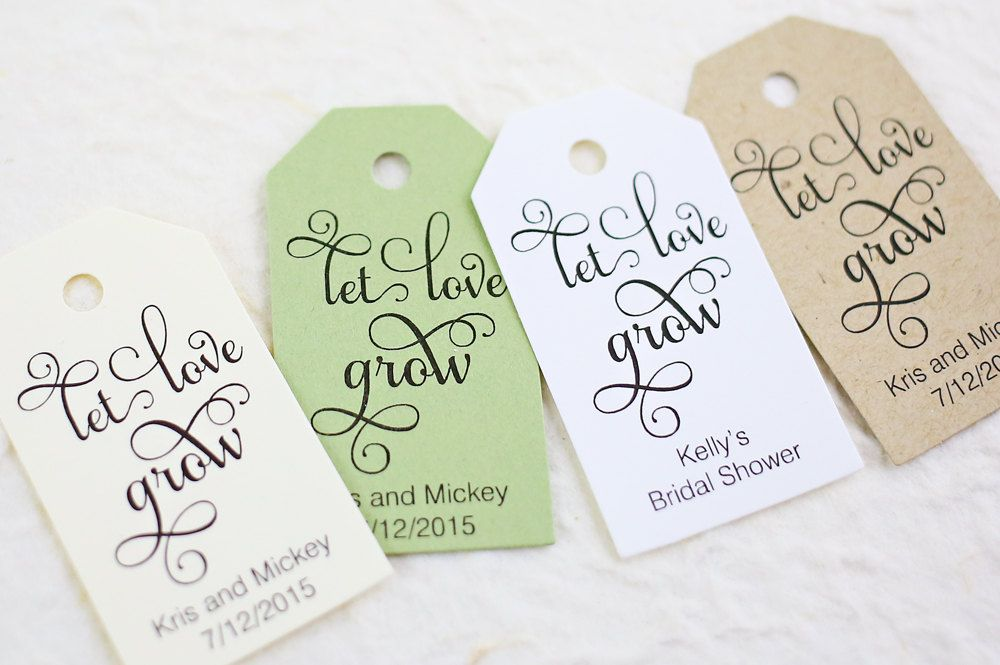 Let Love Grow Tag Bridal Shower Personalized Wedding Favor Succulent Plant Favors Set Of Size X Inches Sam