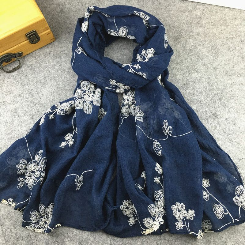 Luxury Ladies Stylish Viscose Hijab Scarf with Small Matching Beads