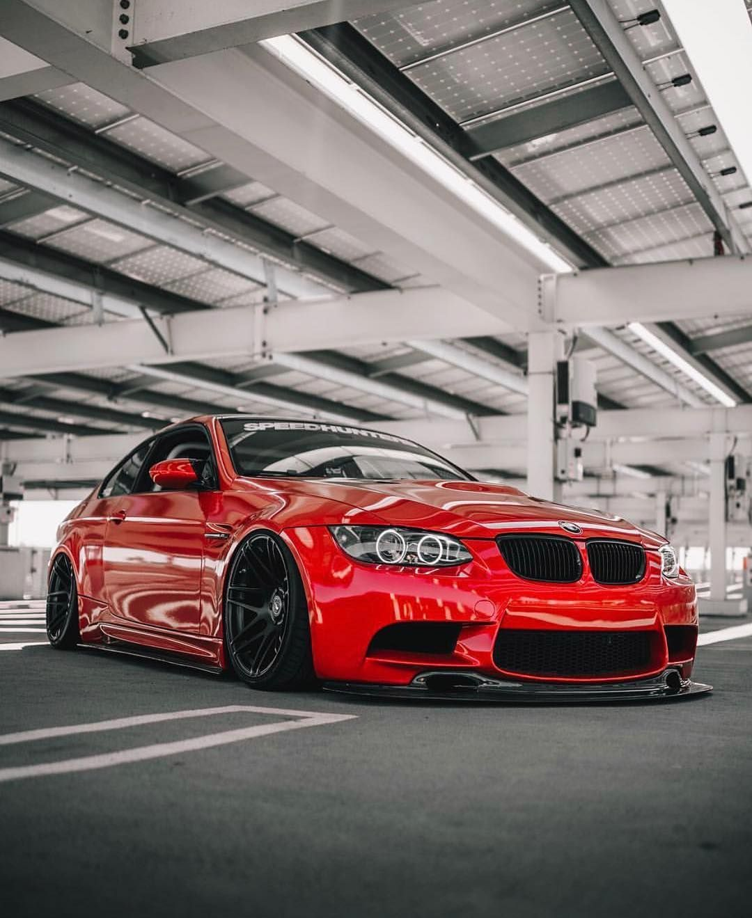 Bmw E92 M3 Red Slammed With Images Dream Cars Bmw Bmw Series