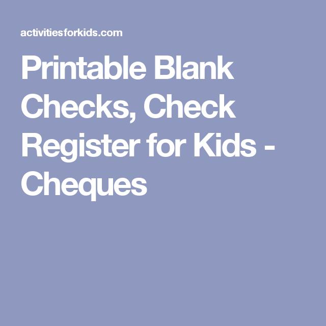 printable blank checks for students