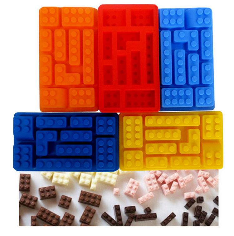 LEGO MAN MINIFIGURE ROBOT MOULD BUILDING BLOCKS SILICONE MOLD RED COLOUR