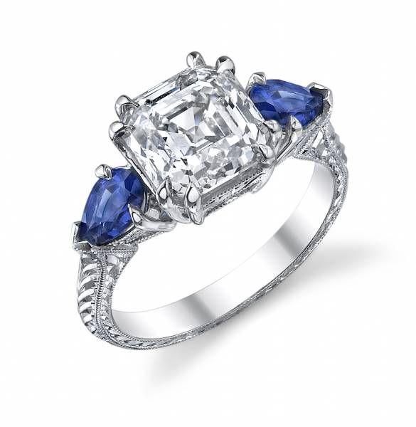 Google Image Result for http://galediamonds.com/wp-content/gallery/sareen-handmade-3-stone-rings/three-stone-platinum-engagement-ring-asscher-cut-diamond-center-pear-shape-sapphire-sides-antique-band-EDTLA605S8-P.jpg