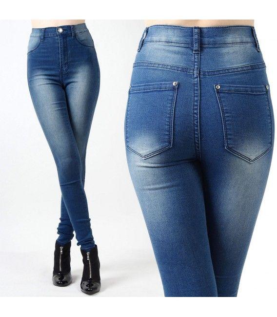 fournisseur de pantalon jean taille haute pour femme ce jean slim est lastique et tr s. Black Bedroom Furniture Sets. Home Design Ideas