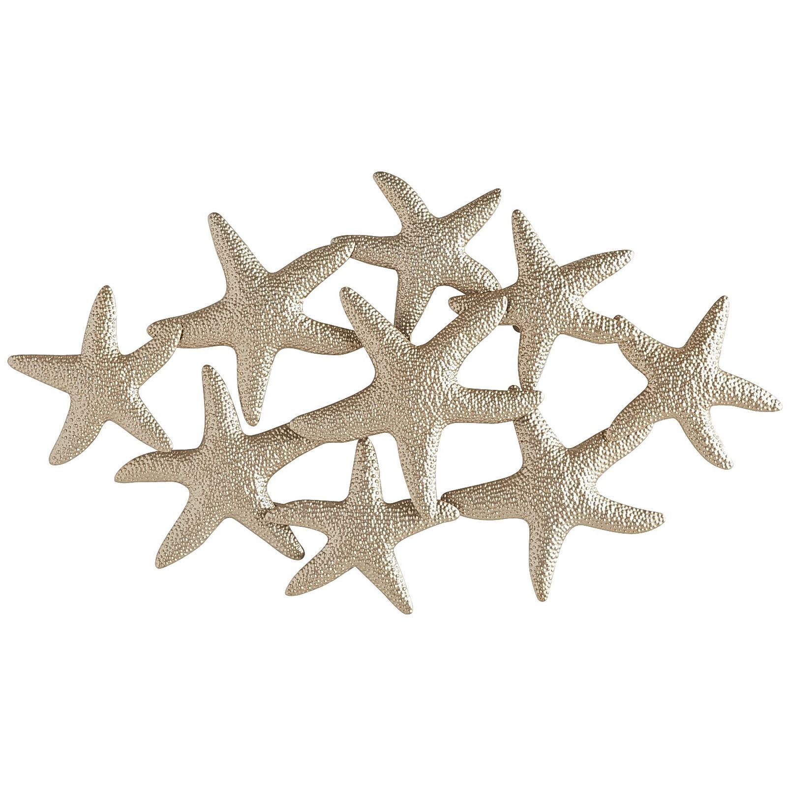 Shimmering In A Lovely Champagne Color Our Cast Iron Starfish Wall Decor Is Right At Home Coastal Theme Instantly Adding Bit Of The Beach To Any