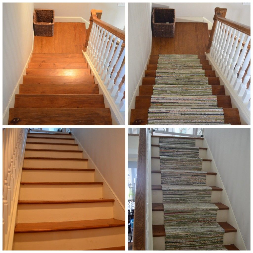 Stair Runner Made From Ikea Rugs   Under 50$ U0026 Lot A Lot Invested In