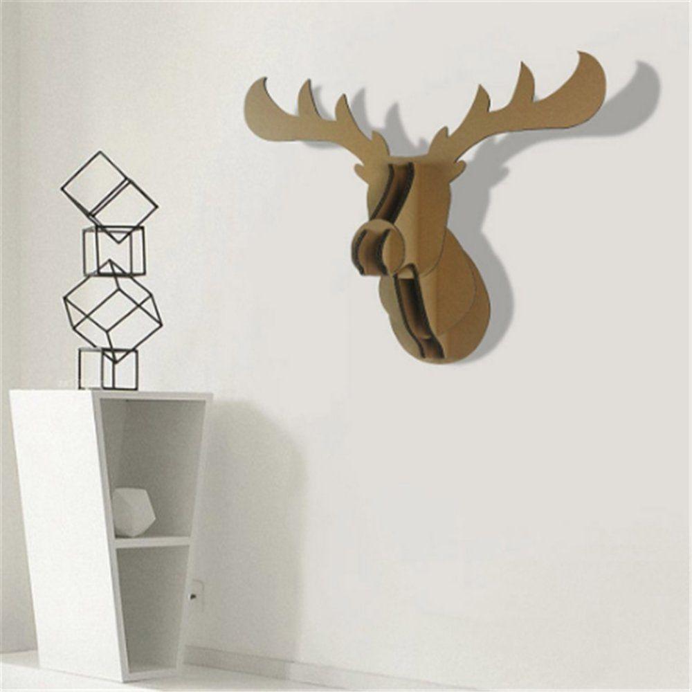 Paper Maker Cardboard 3d Moose Head Wall Decoration Art Animal Head Wall Hanging Decor Animal Head Wall Hanging Animal Head Decor Hanging Wall Decor