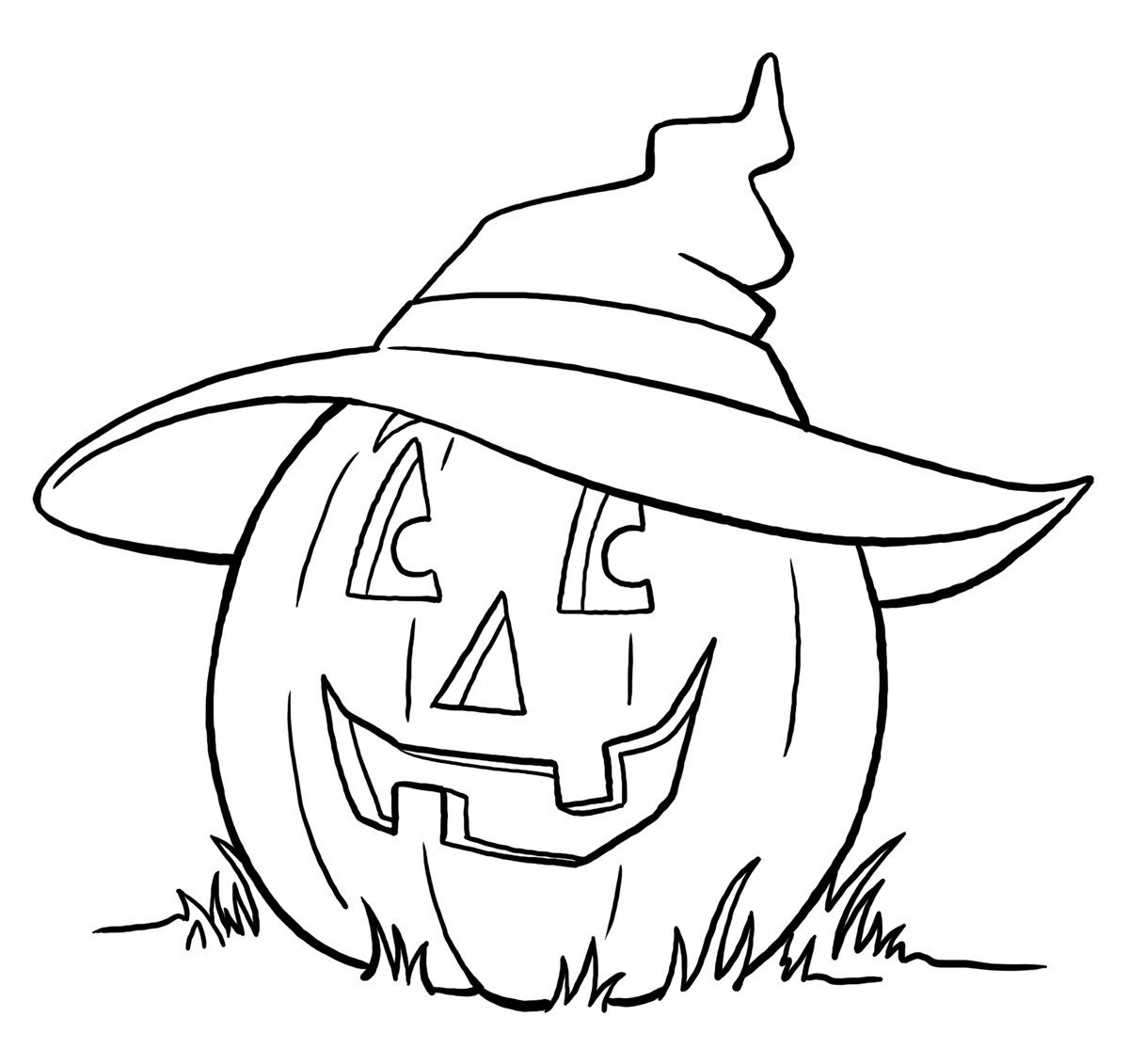 Halloween Pumpkin Coloring Pages Jacko'lantern  Halloween 2  Pinterest