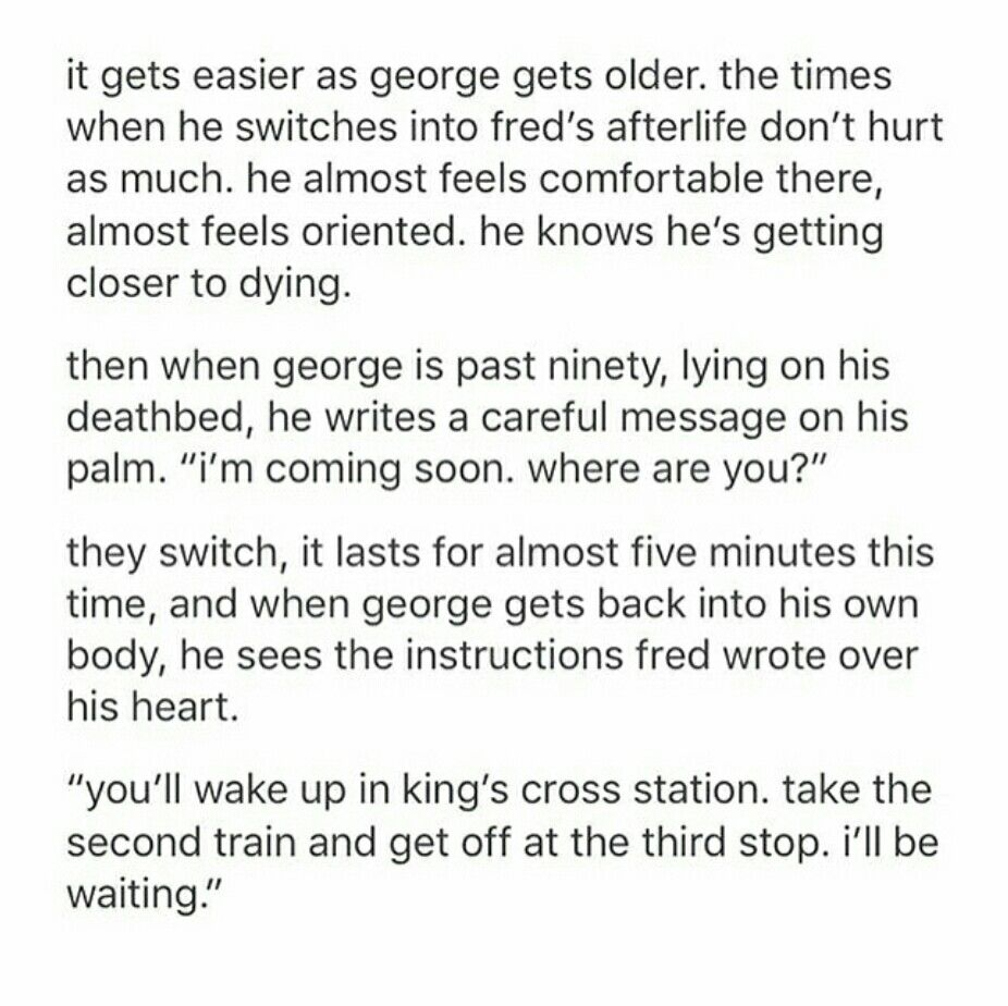 Fred and George headcanon 6/6  I desperately need a fanfic of this