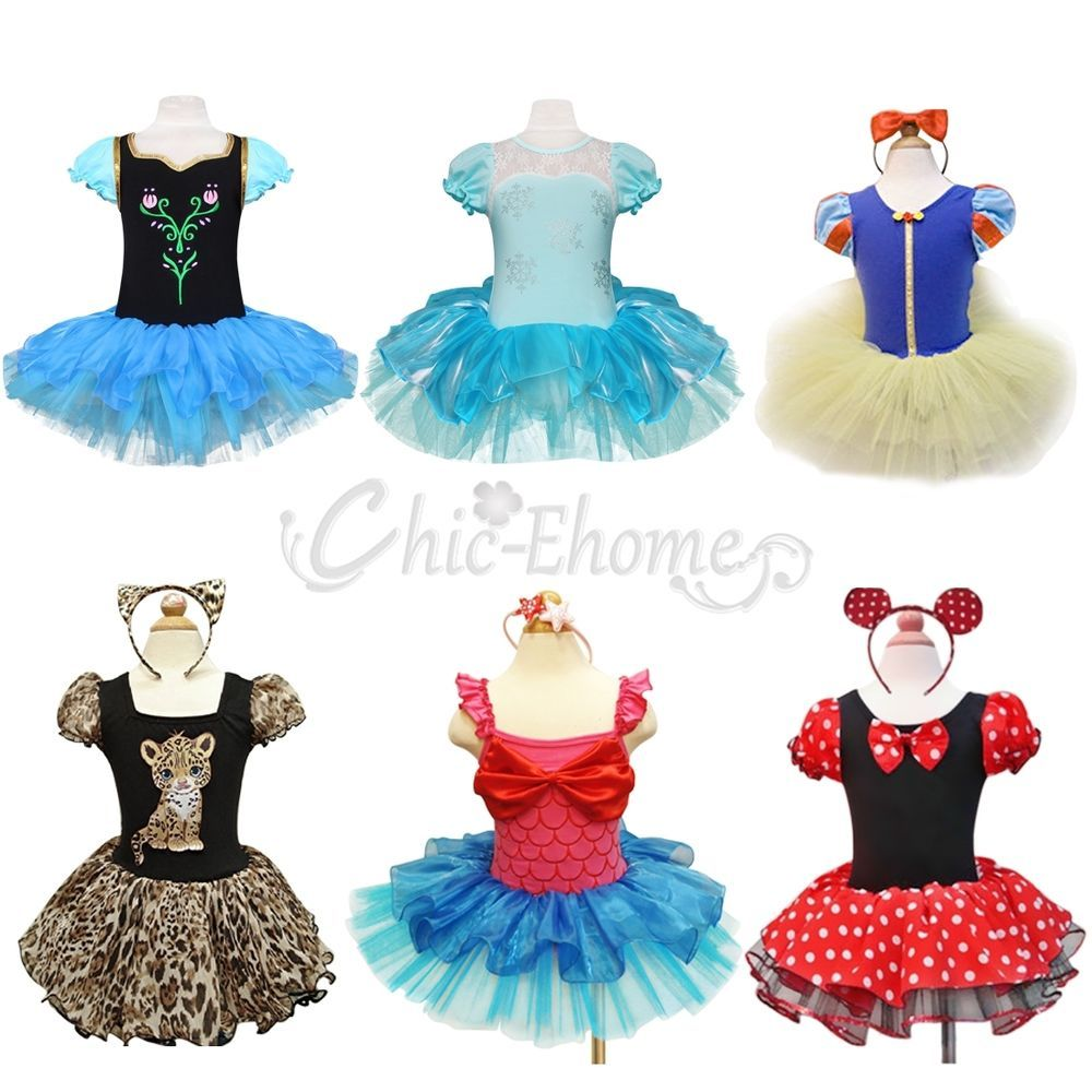 Toddler Girls Kids Minnie Mouse Ballet Tutu Fancy Dress Party ...