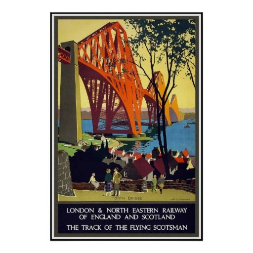 Vintage Travel Poster London Railway Scotland