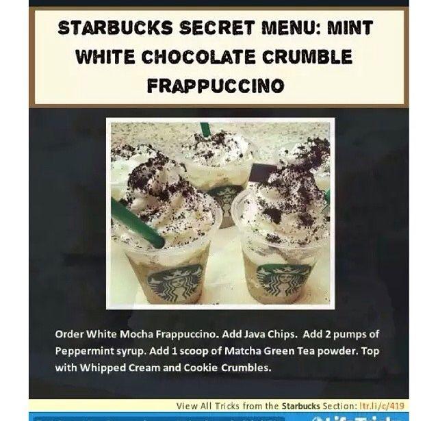 White Chocolate Crumble Frappachino.