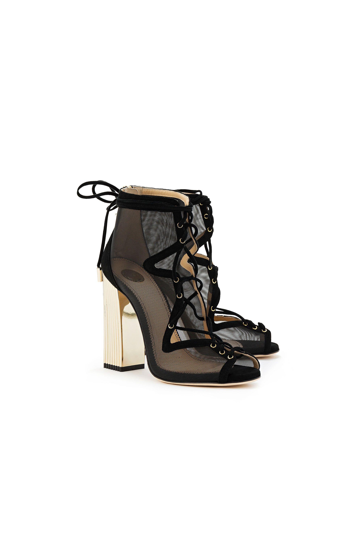 f1d4d38f82c Open-toe ankle boots - Elisabetta Franchi