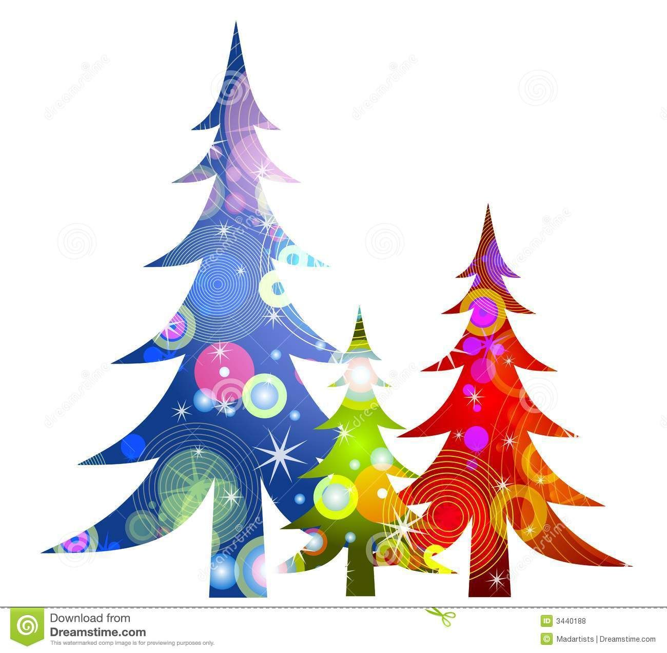 Retro Christmas Trees Clip Art Royalty Free Stock Photos ...