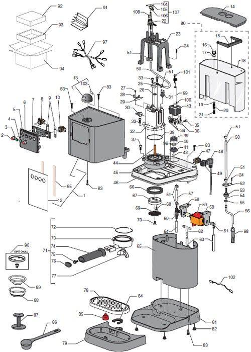 coffee machine schematic