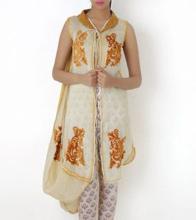 Yellow Ombre Dyed Chanderi Jacket