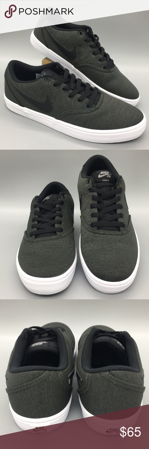 Nike Sb Check Solar Cnvs Prm Anthracite Black Whit In 2020 Casual Athletic Shoes Red Sneakers Casual Sneakers