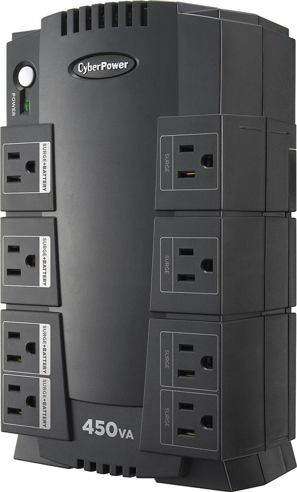 CyberPower - 450VA Battery Back-Up System - Black, SE450G