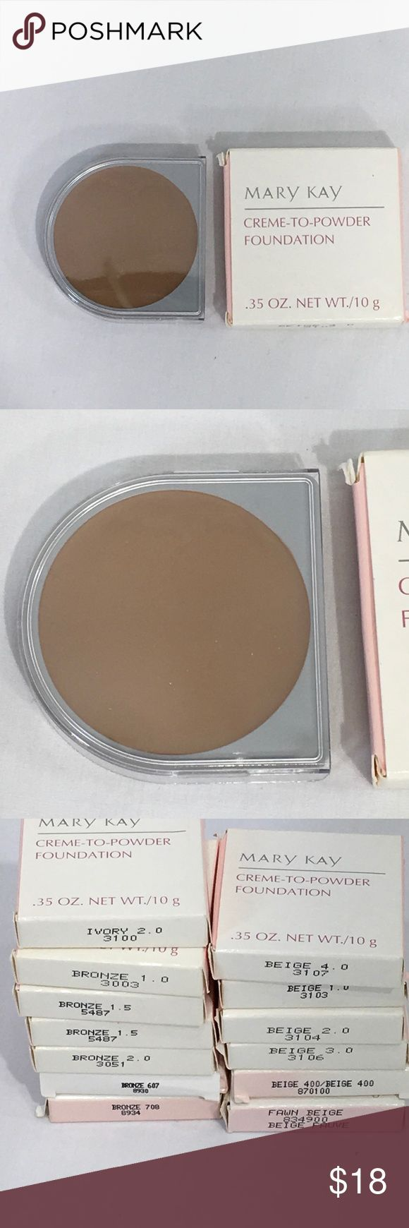 Mary #Kay #Creme #to #Powder #Foundation #Choice #Choose #your #Shade #of #Mary #Kay #Creme # …