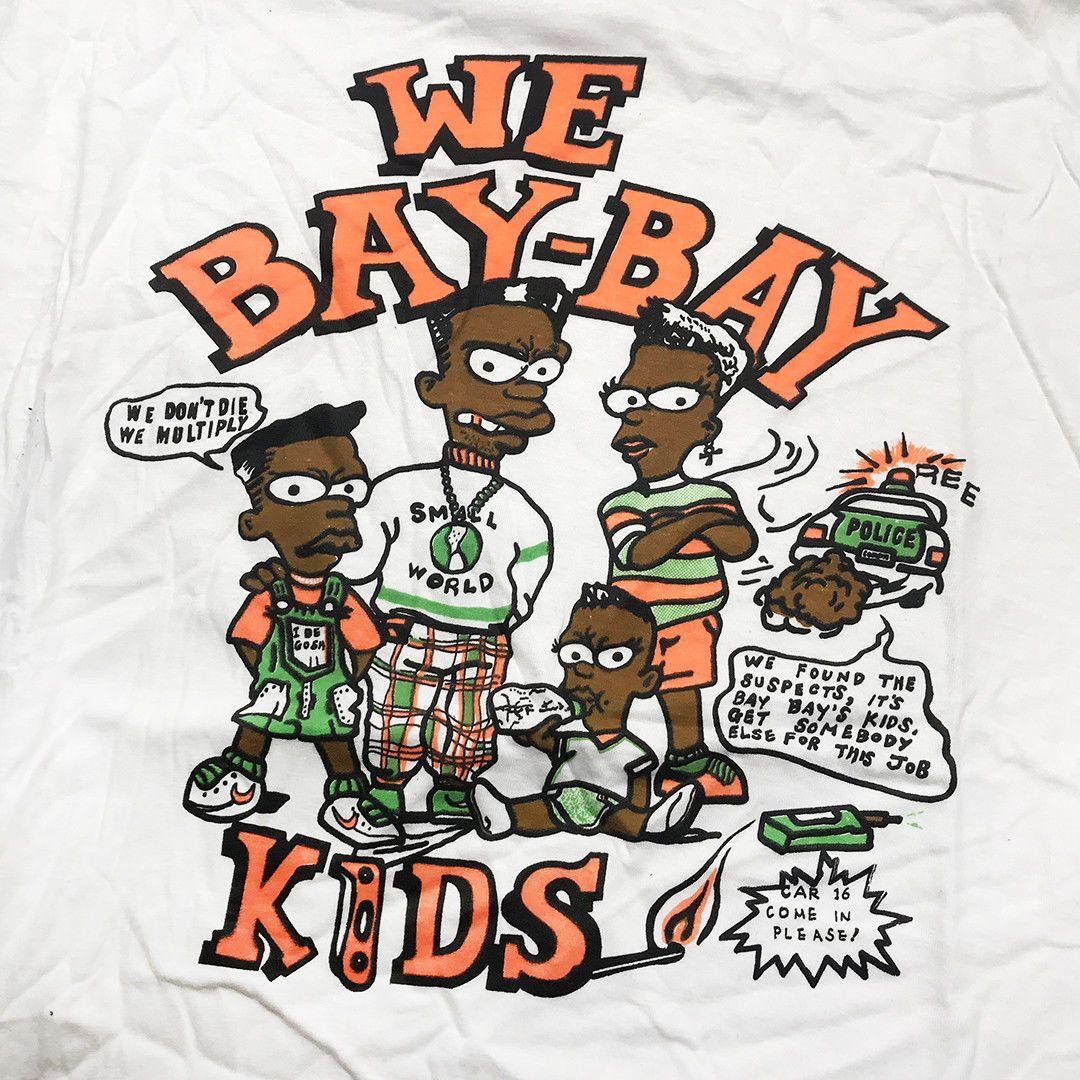 Vintage Bay Bay Kids Bootleg Bart 90 S Single Stitch White T Shirt Vtg90 Bootleg Bart Vintage Clothing Men Vintage