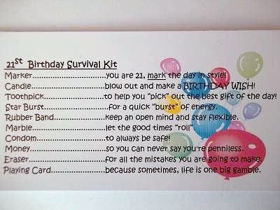 Details about PERSONALISED 21ST BIRTHDAY SURVIVAL KIT GIFT MALE – 21st Birthday Card Sayings