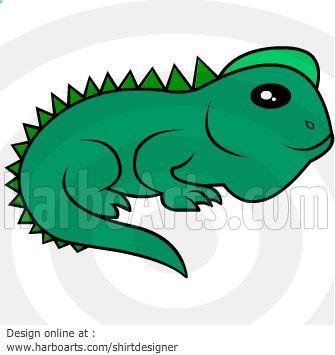 Lizard Cartoon - Vector Graphic