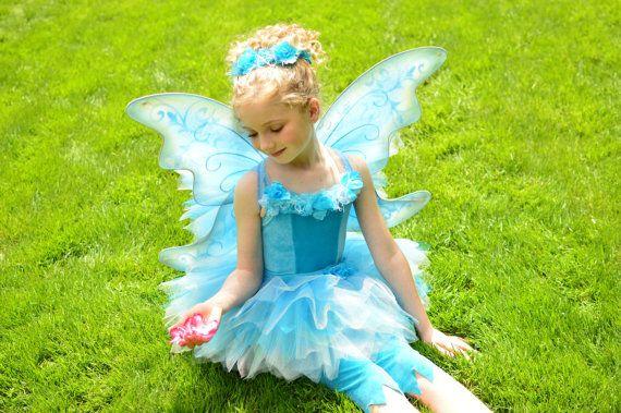 Periwinkle Fairy Costume Tutu Dress