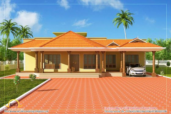 Explore Design Floor Plans, Square Meter, And More! Kerala Style Single  Floor House ...