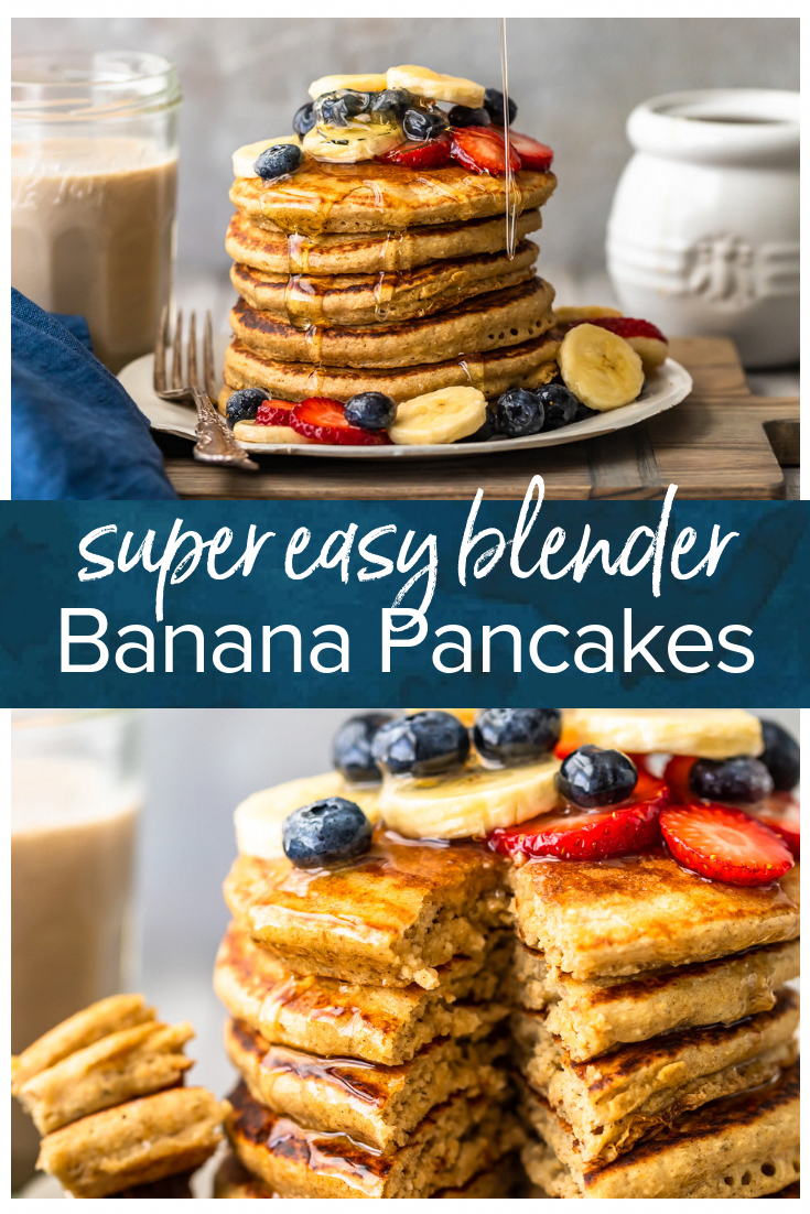 These Easy and Healthy Banana are made in a BLENDER and finished in minutes. We are here to make mornings EASY and DELICIOUS! We used @AlmondBreeze Almondmilk Blended with Real Bananas to give these pancakes out of this world flavor, while keeping them low cal, dairy free, and absolutely amazing. I think these were the Banana Pancakes Jack Johnson was singing about! (link in profile)#AlmondBreeze