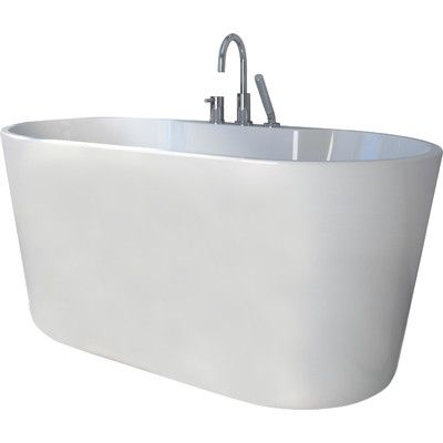 A E Bath And Shower 56 X 31 Freestanding Soaking Bathtub Soaking Bathtubs Wide Bathtub Bathtub