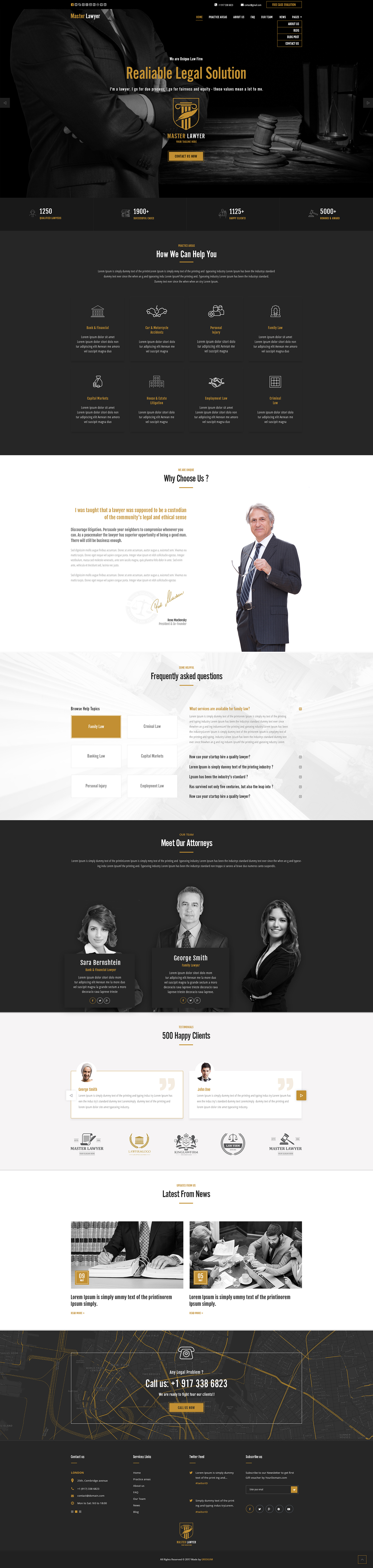 Master Lawyer bootstrap theme on Behance | Bootstrap Templates ...
