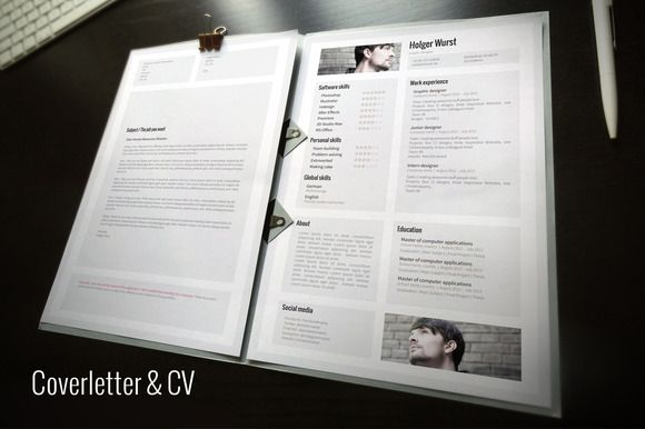 Cv Cover Letter Portfolio Template By Graphicsauthor  Resume