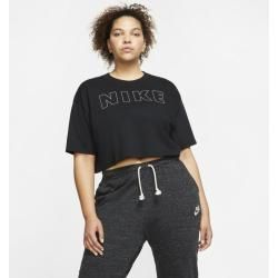 Photo of Nike Large Size – Air Crop Design T-Shirt for Women – Black Nike