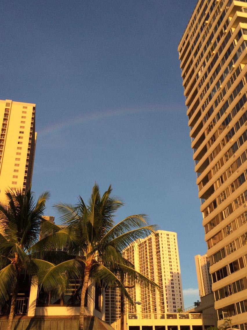 うっすら虹が出てた in HAWAII