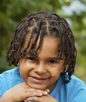 Boy with mini braids