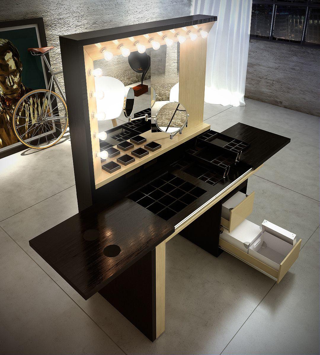 Mueble maquillaje on Behance  Habitaciones  Muebles para
