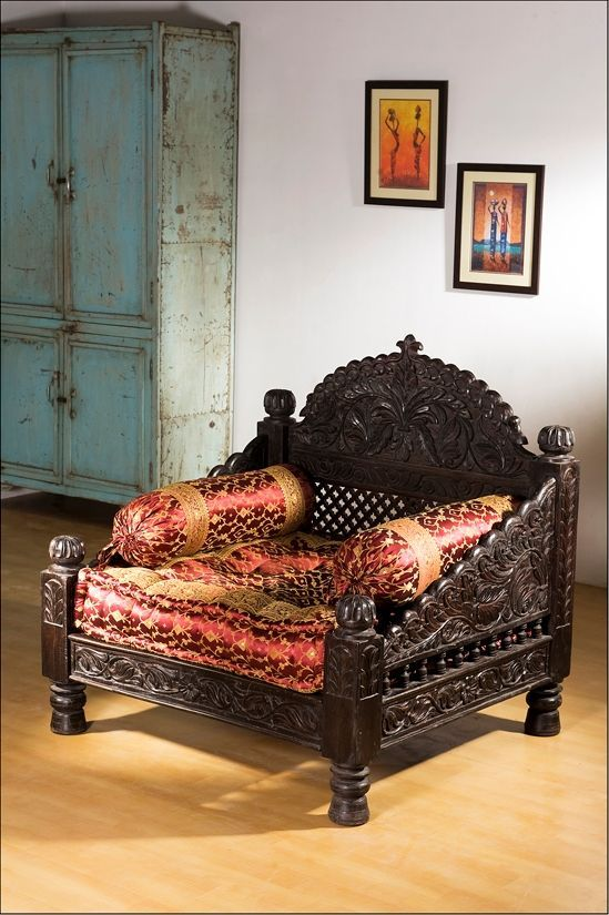 monsooncraft com indian carved sofa settee designs indian home rh pinterest com